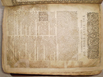 1610 Bible - page repair complete