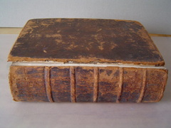 1610 Bible - as received. Spine off.